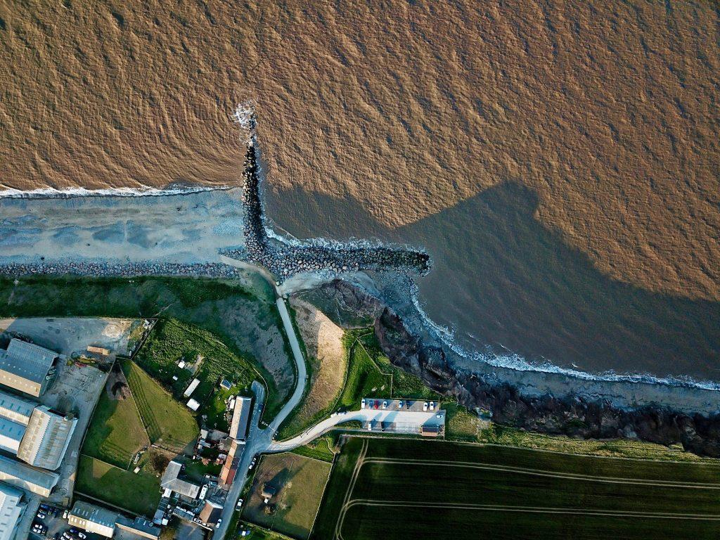 Coastal defences and erosion at Mappleton