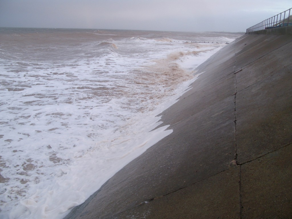 Concrete revetment at Hornsea