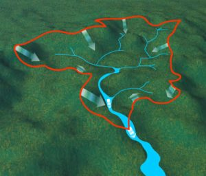 An image of a watershed