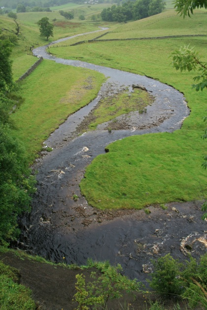 A swollen river