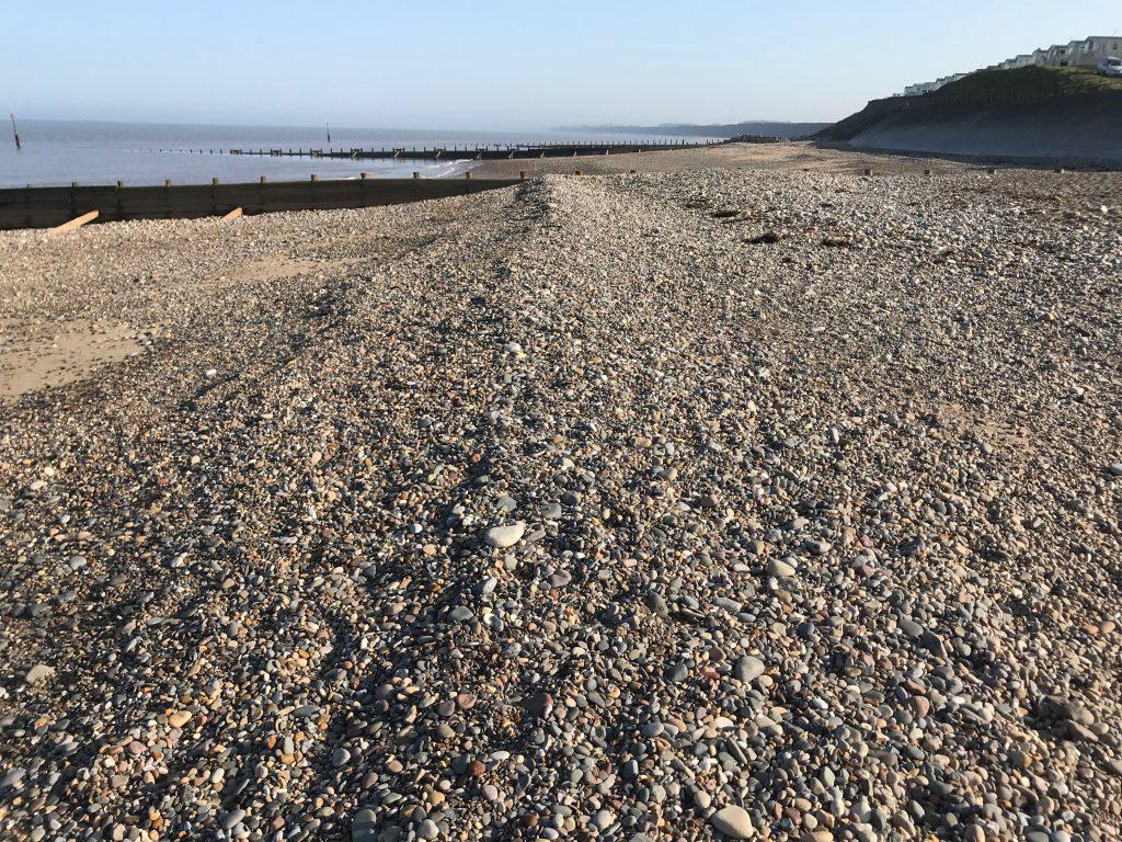 A berm at Hornsea beach
